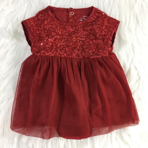 12dce5058 Cat & Jack Dresses   Cat Jack Baby Girls Little Red Dress Size 03 Mo ...